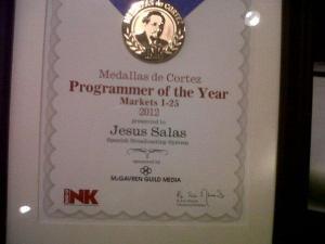 Jesus Salas Radio Ink Programmer of the year 2012