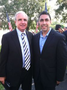 Jesus Zeus Salas with Mayor Gimenez of Miami Dade County Florida