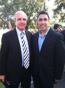 Jesus Zeus Salas with Mayor Gimenez of Miami Dade County Florida