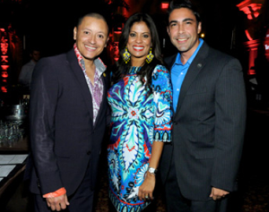 Latin Grammy Award winner Elvis Crespo, Miami Children's Hospital Foundation President & CEO Lucy Morillo-Agnetti, and Committee Chair Jesus Salas, Executive Vice President of Programming for Spanish Broadcasting System