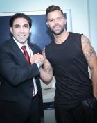 Ricky Martin With Jesus Salas