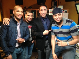 Jesus Zeus Salas with New York #1 Mega 97.9 FM team
