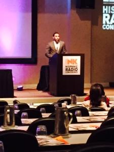 Jesus Salas Presenting Moderator at Radio Ink