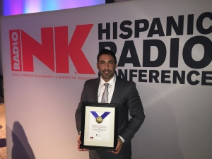 "JESUS SALAS RECEIVES ""STATION OF THE YEAR"" AWARD FOR EL ZOL 106.7FM (Miami)"